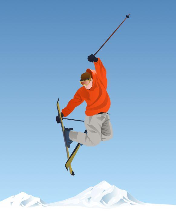 Ski clipart person skiing Sport Area 43 Solution solution