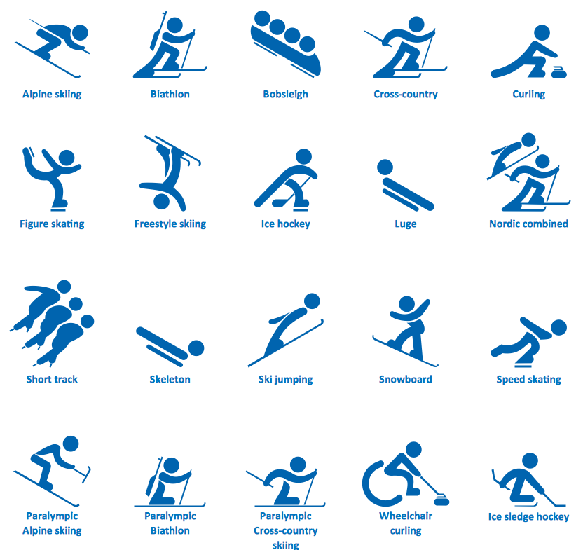 Olympic Games clipart sports day Design Sports Elements ConceptDraw Symbols