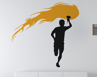 Torch clipart runner Decal Wall Sticker OSAA735s Olympic