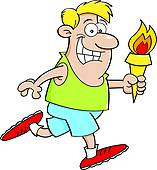 Torch clipart torch bearer Torch Clip with Art Olympic