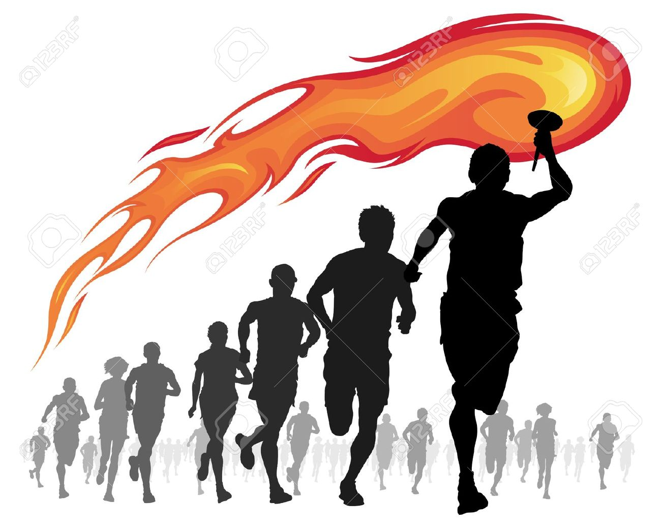 Torch clipart torch bearer Torch Collection art Happy clipart