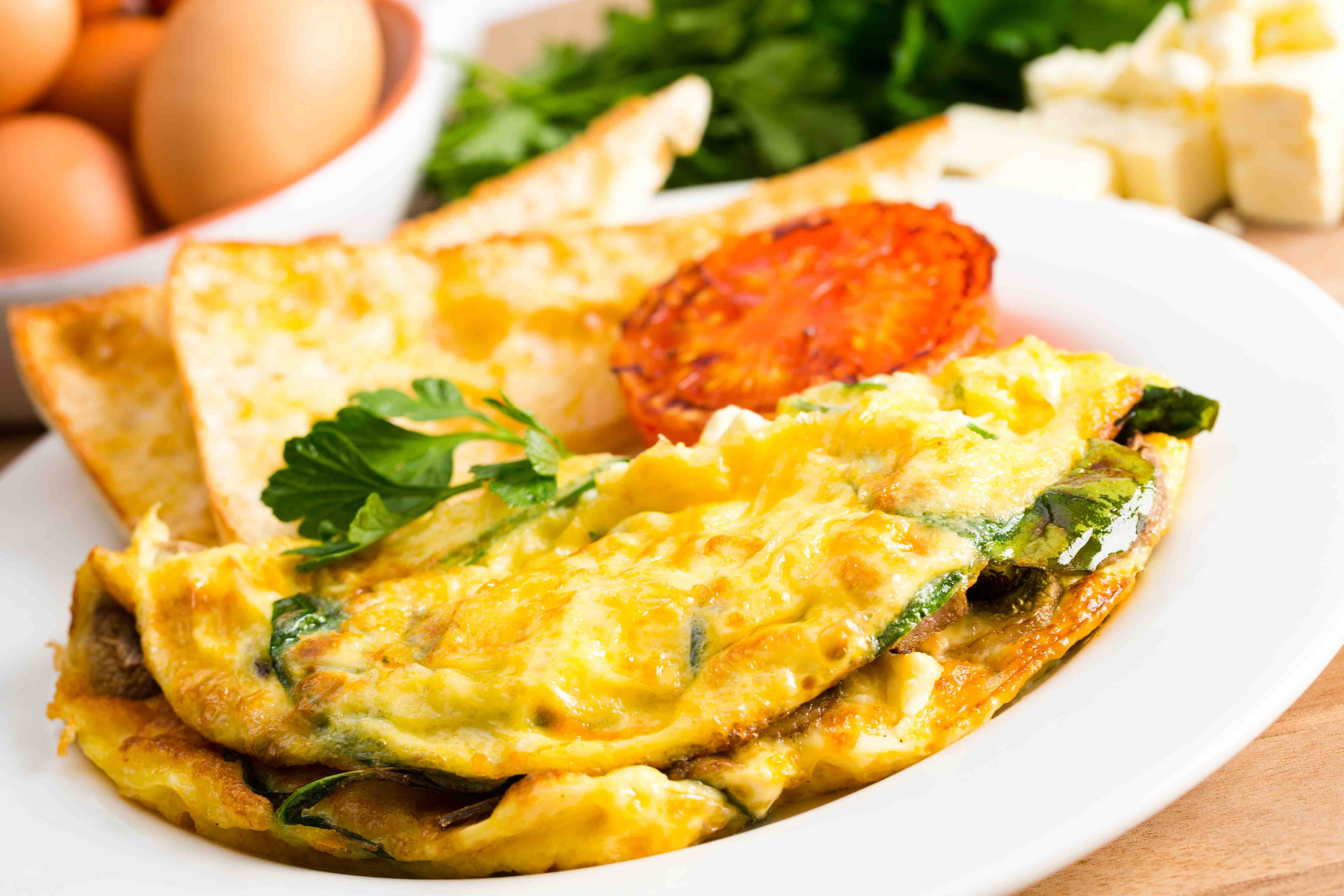 Omelette clipart hot frying pan All Breakfast Spinach Day and