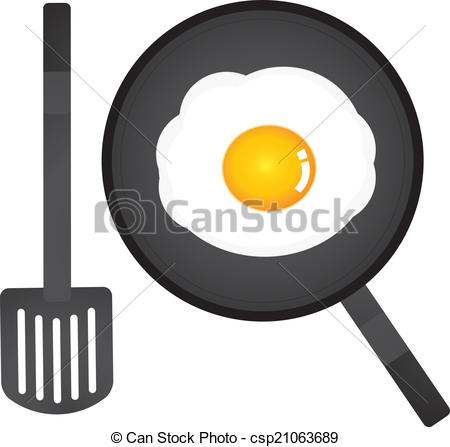 Omelette clipart hot frying pan In of  Vector pan