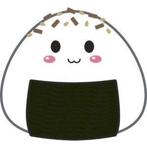 Onigiri clipart Little Toppings with Rice cute