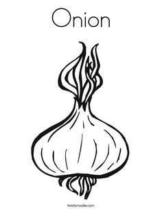 Onion clipart coloring page Gif Clipart pages Twisty coloring