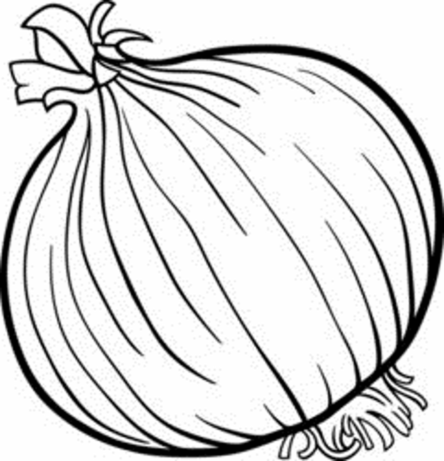 Onion clipart coloring page With Vegetable Quilted with