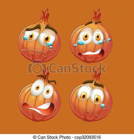 Onion clipart face Face with Clip sad Onion
