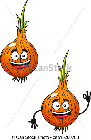 Onion clipart happy Happy Cartoon  csp18200703 smiling