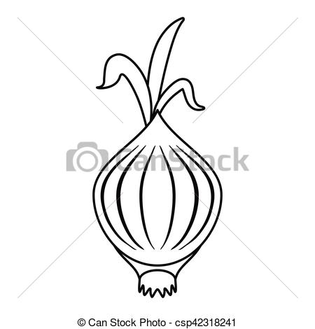 Onion clipart outline Outline sprout sprout EPS Vector