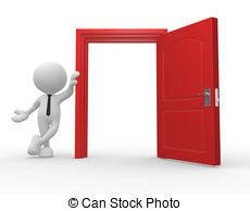 Open clipart People door vector Illustrations and