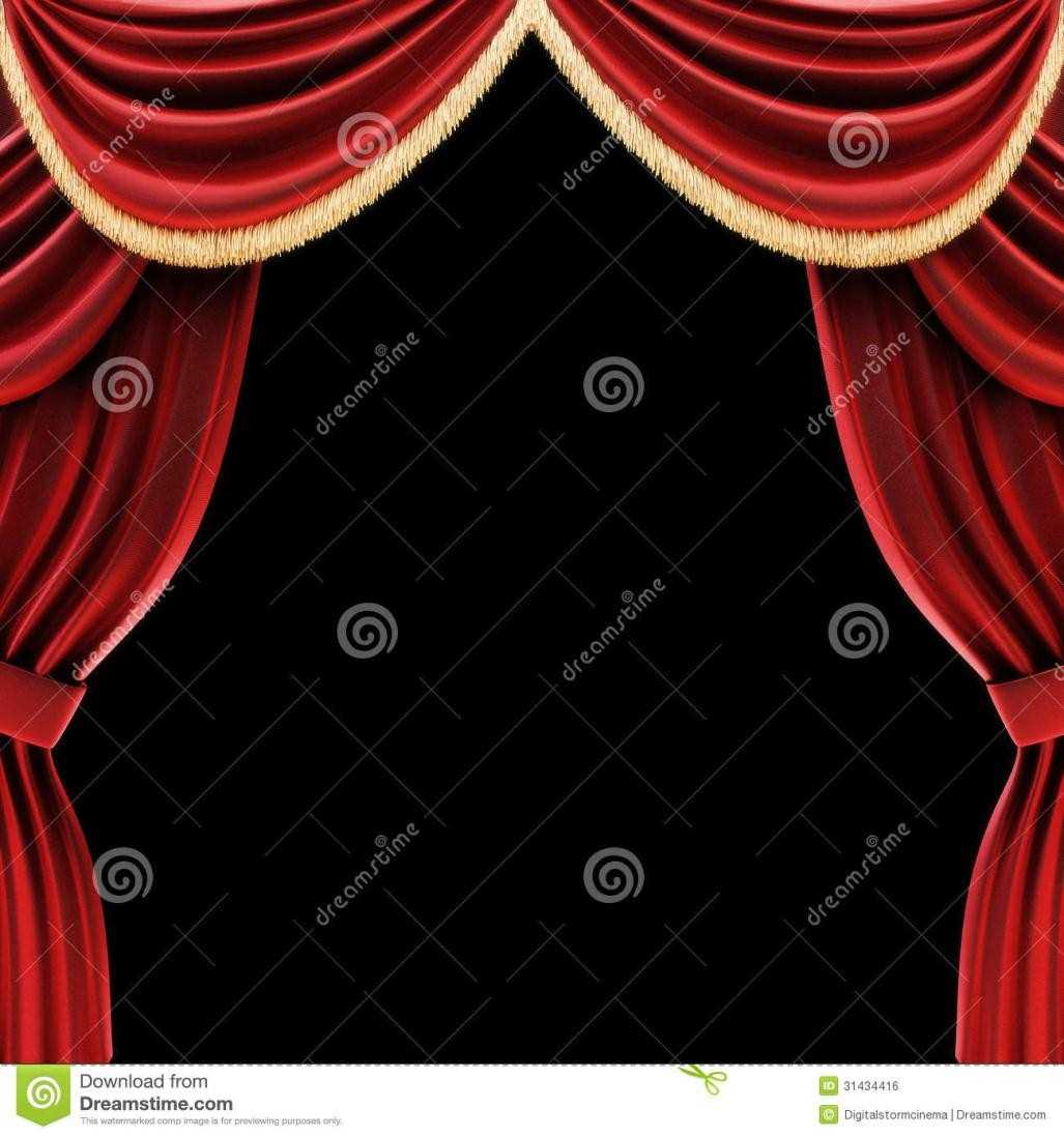 Open clipart act Curtains : Clipart Stage