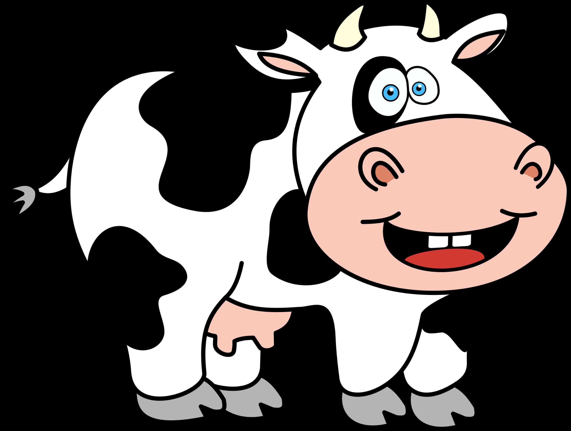 Open clipart cartoon cow #7