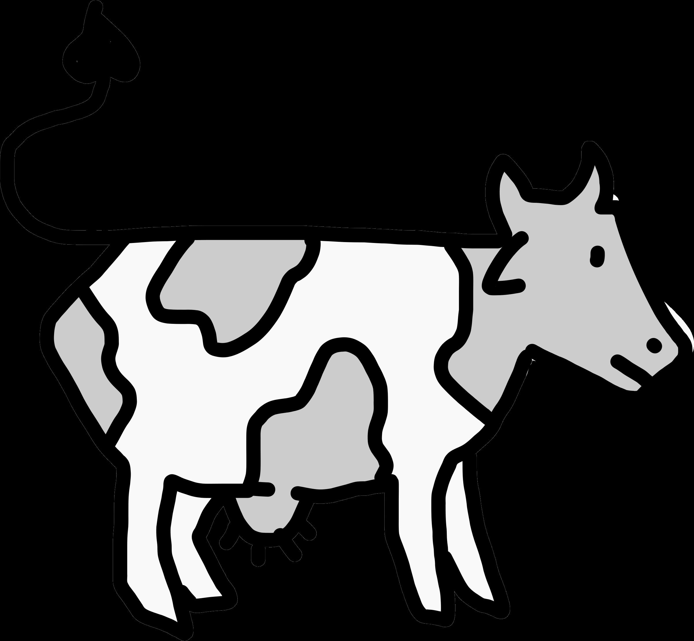Open clipart cartoon cow #3