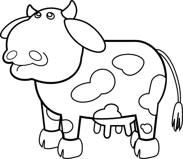 Open clipart cartoon cow #9