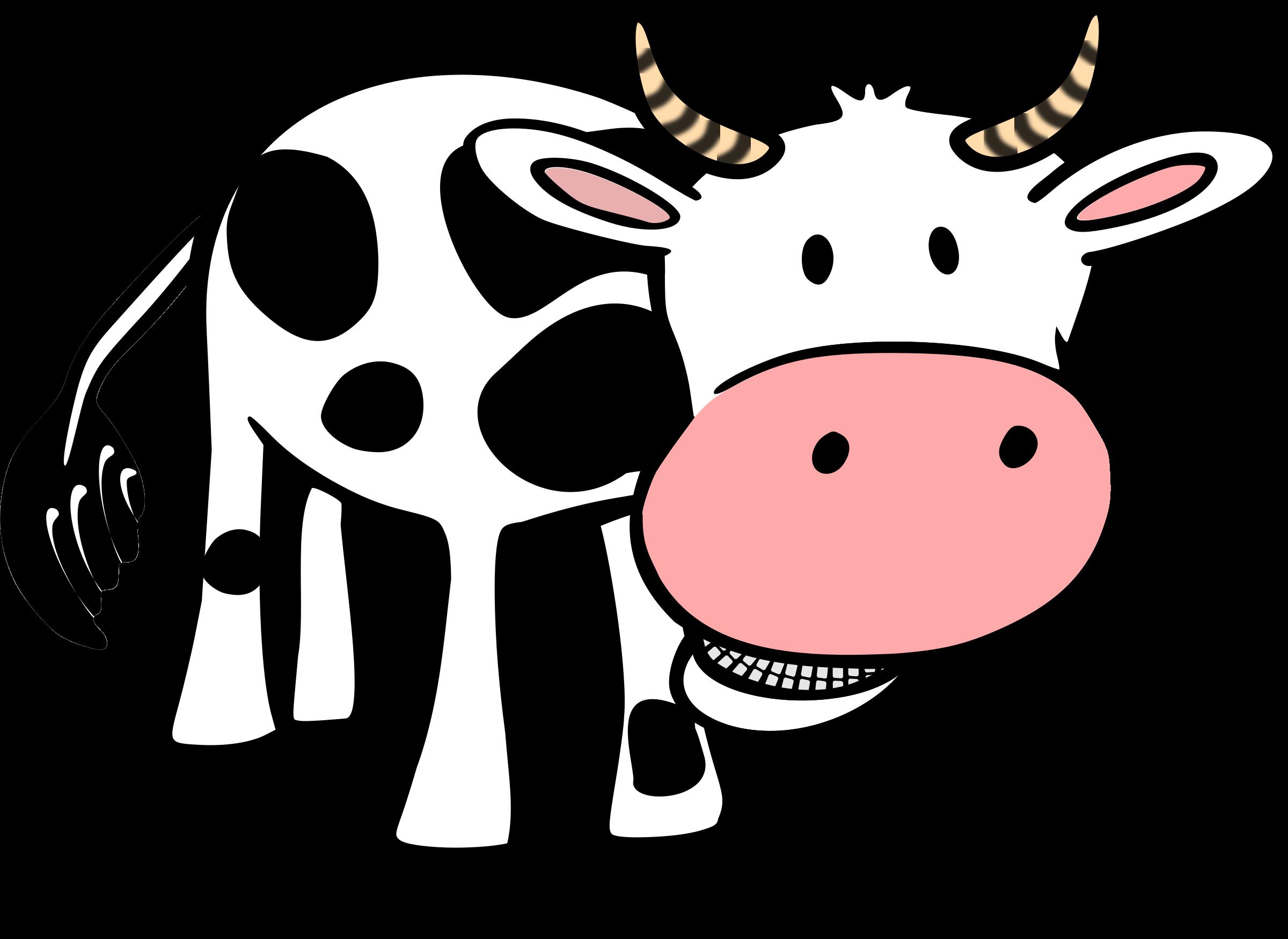 Open clipart cartoon cow #5