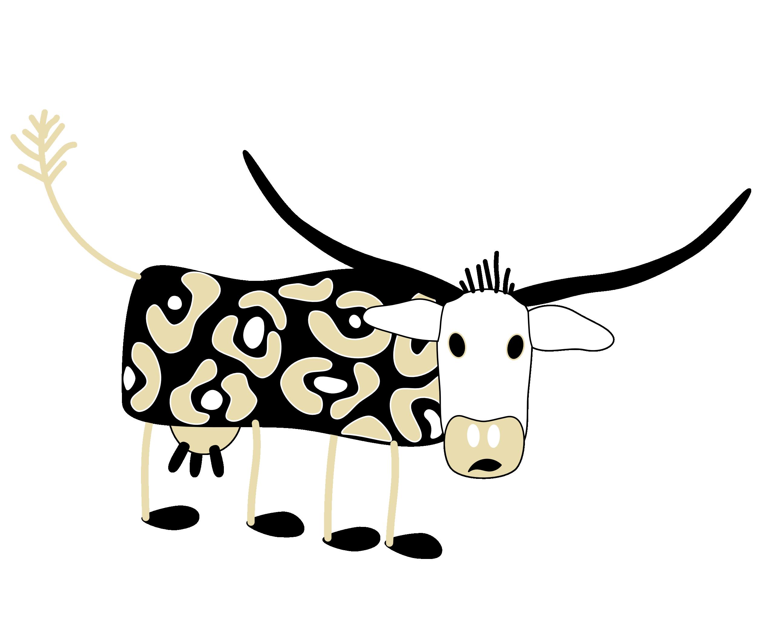 Open clipart cartoon cow #10