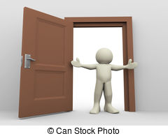 Door clipart open door #9