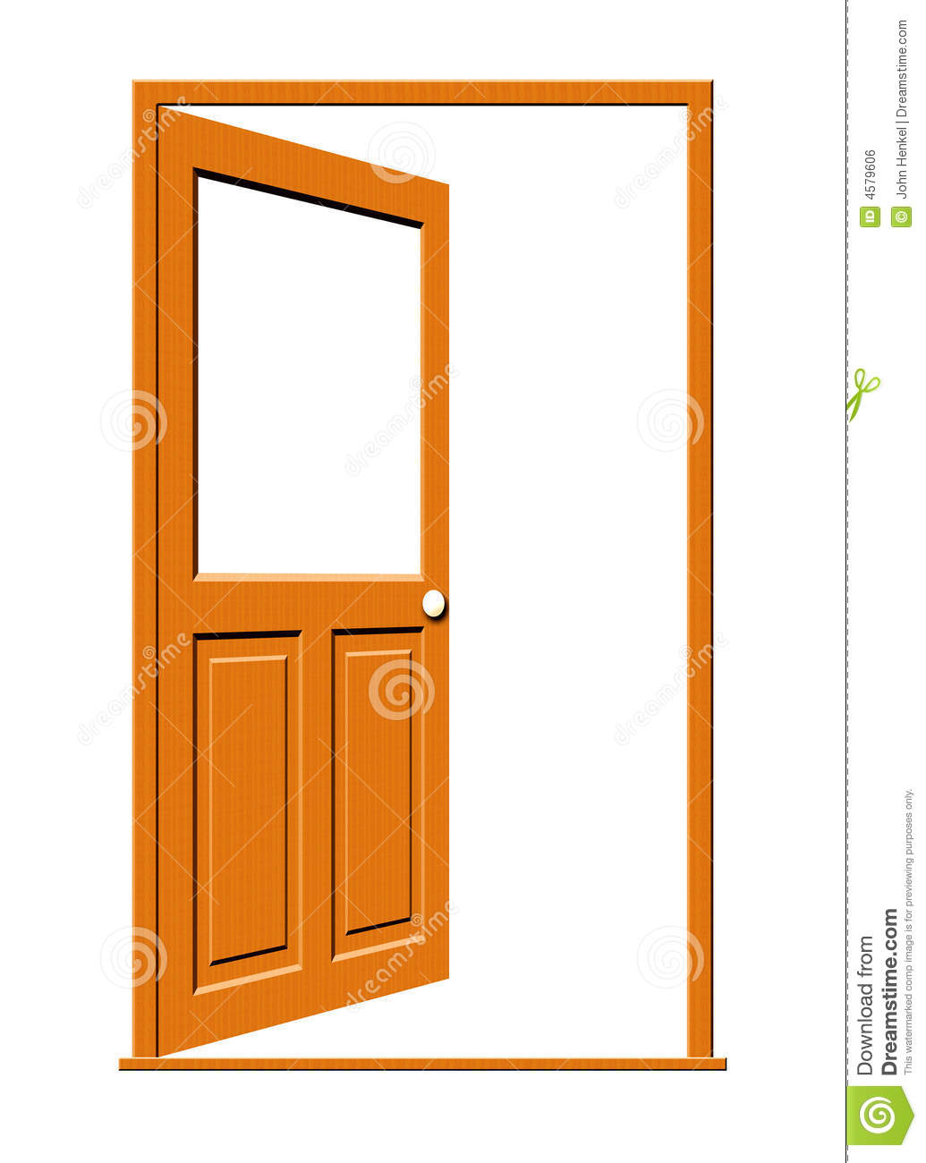 Door clipart open door #1