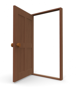 Door clipart open door #2