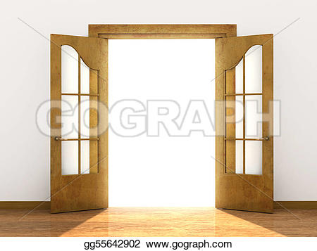 Open Door clipart arch Clipart door Illustrations  door