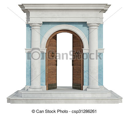 Open Door clipart arch With Stock csp31286261 Front door