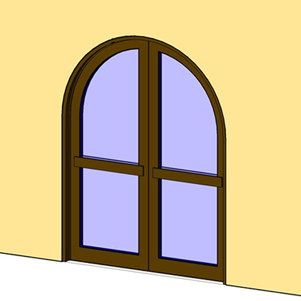 Open Door clipart arch Arch Door Opening Double rfa