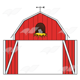 Barn clipart barn door Cat open a Clip Barn—with