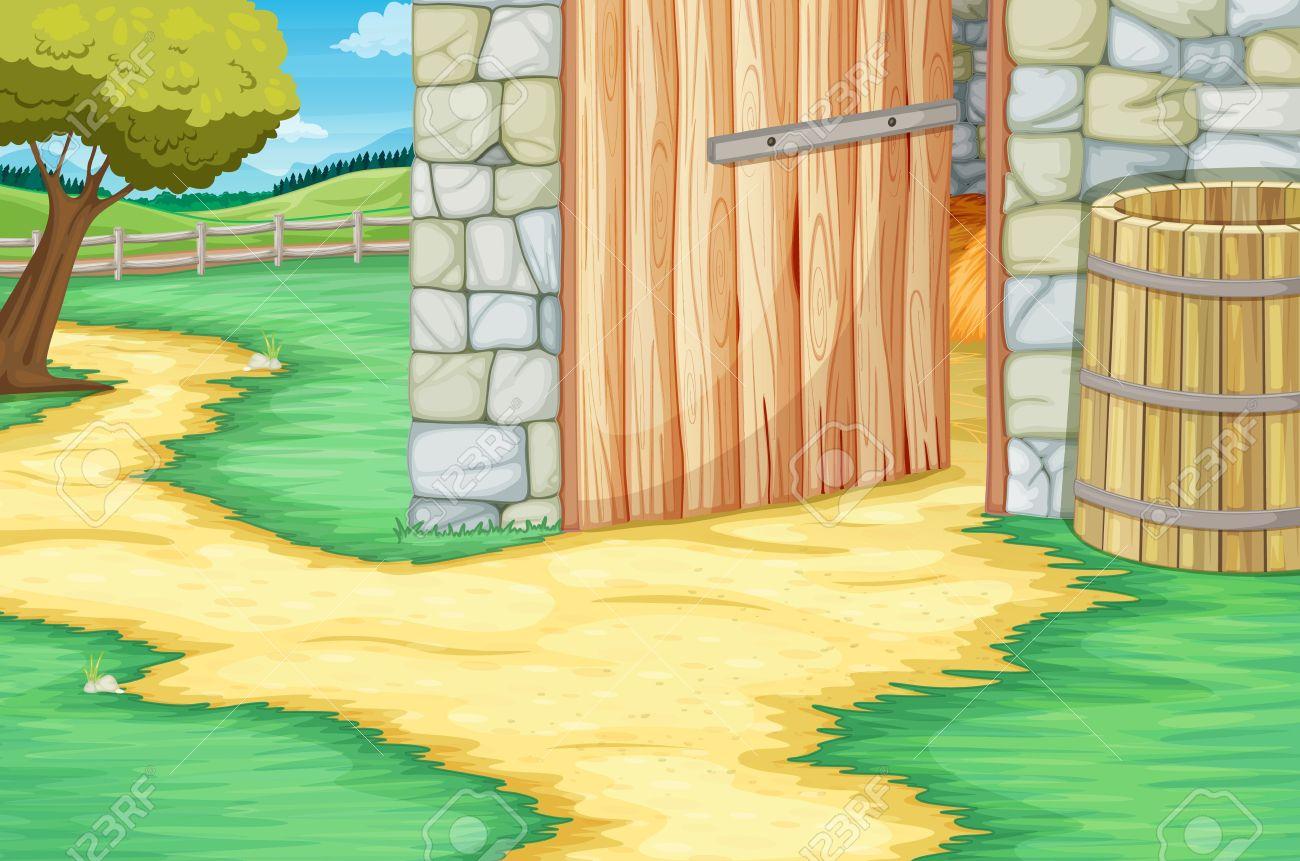 Open Door clipart barn Clip Simple Free Cliparts door