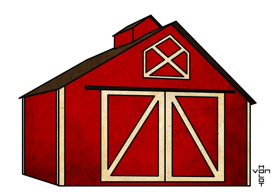 Open Door clipart barn Free Red clip Cow kid