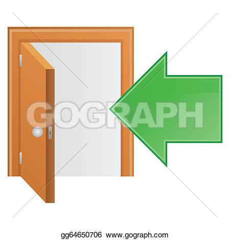 Doorway clipart green door Vector Vector icon home style