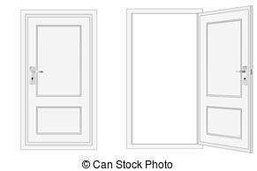 Open clipart closing door Closed Art Stock conceptual and