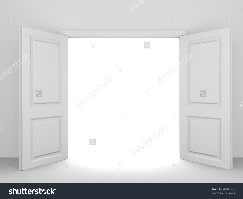 Open Door clipart double door Download 76482292jpg Opened Unthinkable