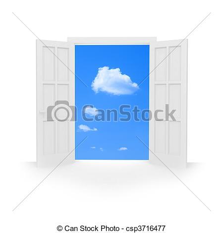 Open Door clipart double door Open Isolated door double Open