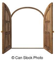 Open Door clipart double door Illustrations Doors white and