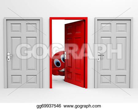 Open Door clipart exit door #9