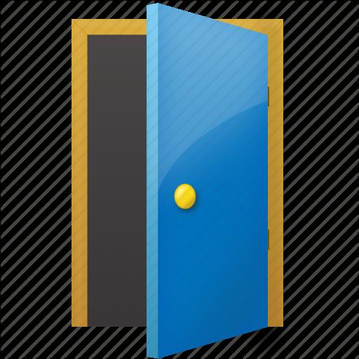 Open Door clipart exit door #7