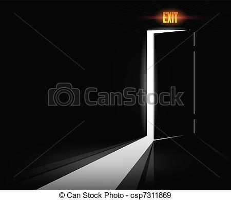Open Door clipart exit door #5