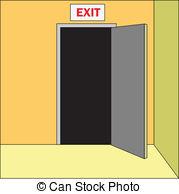Open Door clipart exit door #6
