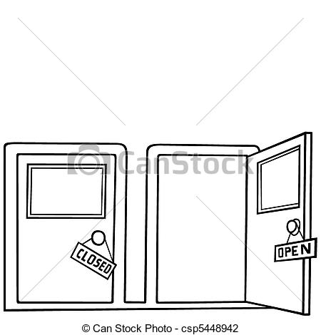 Door and Vector Close Illustration
