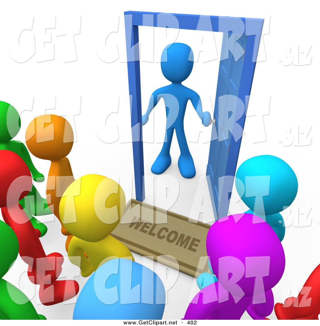 Doorway clipart person #5