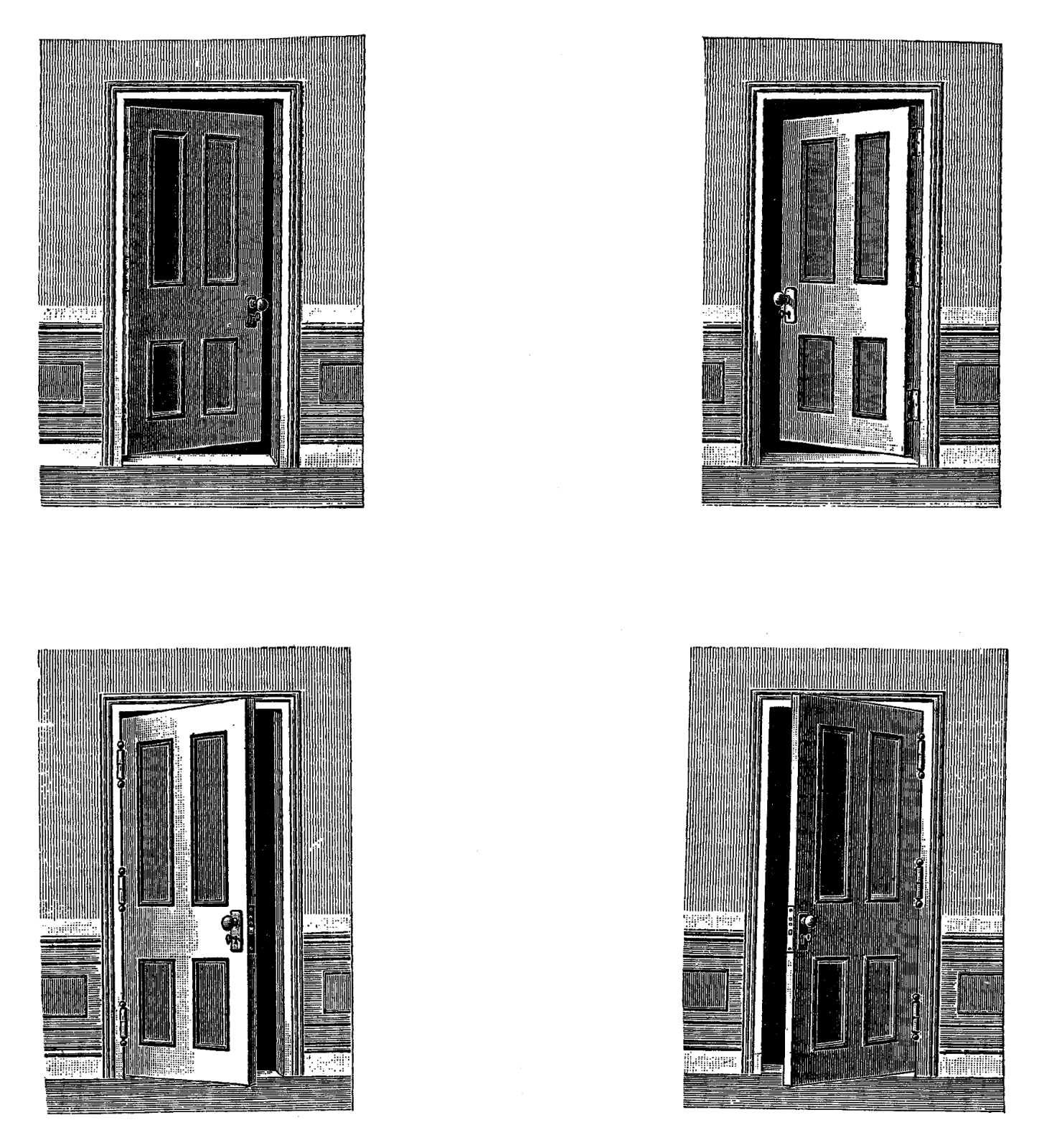 Open Door clipart old door Sheet found four doors Images: