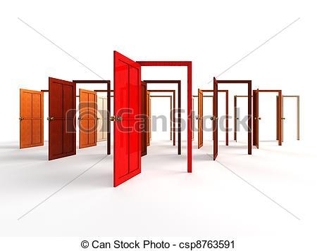 Open Door clipart red Doors and 231 clipartofopendoors Clipart