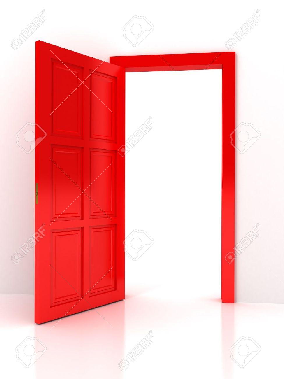 Open Door clipart red With background Door white (27+)