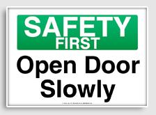 Open Door clipart slowly Free printable com osha printable