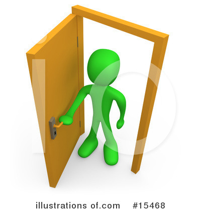 Open Door clipart slowly By 3poD #15468 Illustration Free