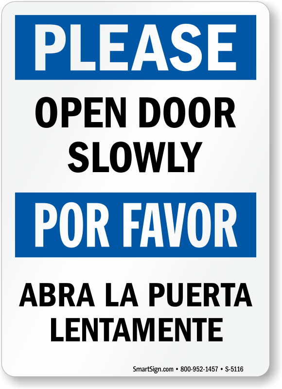 Open Door clipart slowly Slowly Price Zoom Signs Signs