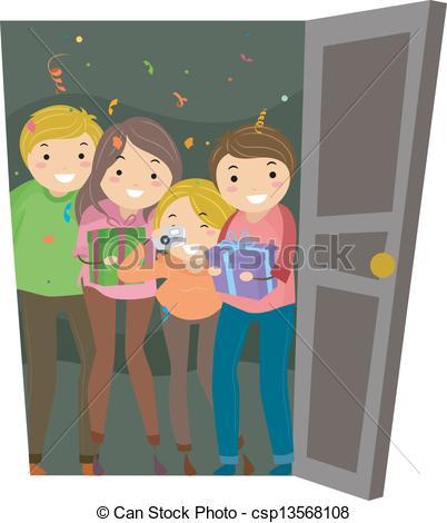 Open Door clipart someone #8