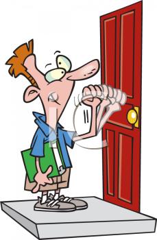 Open Door clipart someone #7