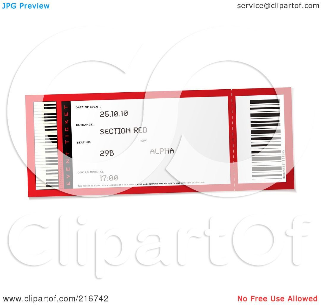 Open Door clipart ticket out Clipart (RF) stub Illustration Royalty