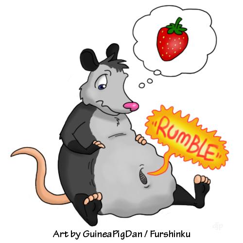 Opossum clipart odd Hungry Weasyl Possum Possum Hungry